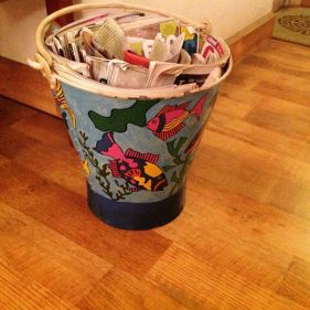 handpainted bucket