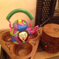 handpainted kettle