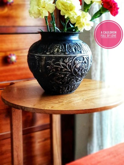 As an end table to keep a big vase of fresh flowers