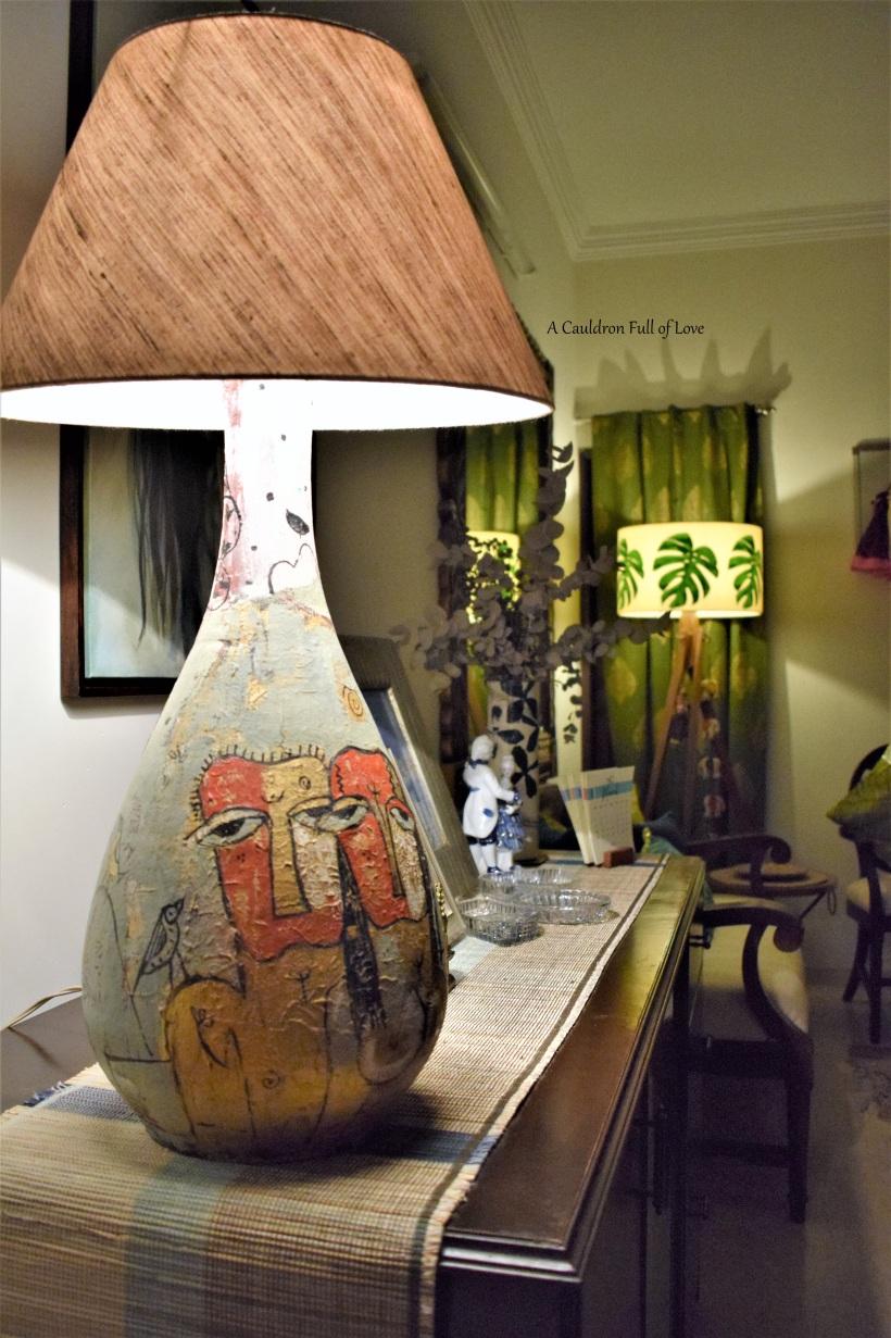 Terracotta Lamp by Jaya Baheti