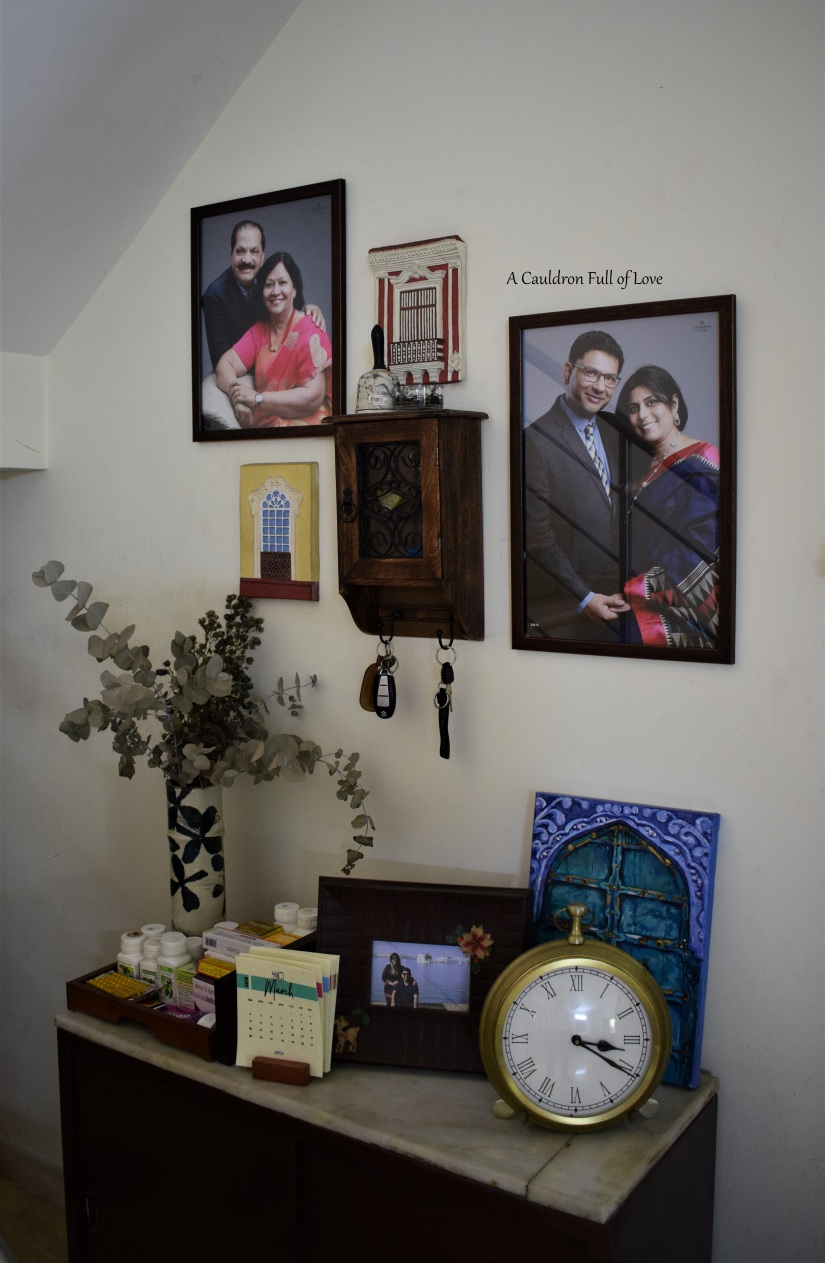 Picture Wall over Shoe Rack